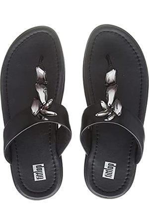 FitFlop Damen FINO Sleek Toe Post-Ombre Stones Flipflop, (All Black)