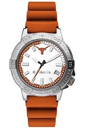 Columbia College Collegiate CSC03-014 Quarz-Armbanduhr aus Edelstahl, mit Silikonarmband