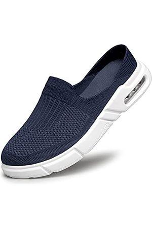 ADQ Herren Slipper, Pantoletten, Sneaker, Läufer, Slipper, Slips, Slipper, Luftkissen, leger, leicht, (navy)