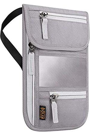 LACE INN RFID-blockierender Reisepasshalter für Damen und Herren, von , verstellbarer Schultergurt, Umhängetasche, Messenger-Tasche, wasserabweisend