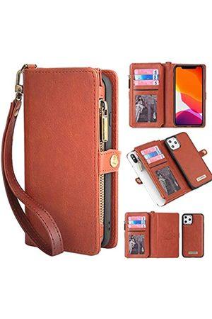 KelaSip Schutzhülle für iPhone 11 / iPhone 11 Pro, Leder, Brieftasche mit Kartenfächern, magnetisch, abnehmbar