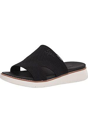 Cole Haan Damen Sandalen - Damen Zerogrand GLOBAL Stitchlite Sandal Flipflop, Schwarzes Strick-/Pekannusleder