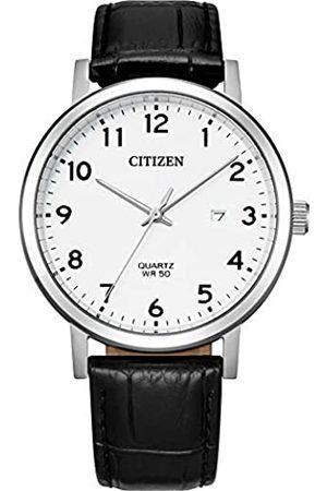 Citizen Herren Uhren - Herren Analog Quarz Uhr mit Leder Armband BI5070-06A