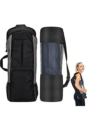 VXTRRI Yoga-Rucksack, Yogamatten-Halter, Turnbeutel, passend für 1,27 cm dicke Yogamatte, große Tasche und Wasserflaschentasche, durchgehender Reißverschluss, für Damen und Herren, Sport, Fitness, Reisen, Klettern