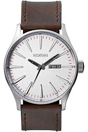 Nixon Armbanduhr Sentry Leder Silver / Brown
