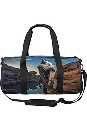 alaza Dinosaurier auf Bergfelsen, Sporttasche, Reisetasche, Handtasche