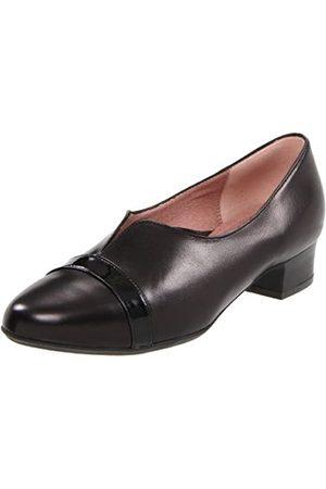 BeautiFeel Damen Piper Pump, Schwarz (Kombination aus schwarzem Leder/Lack)