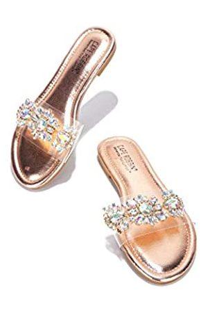 Cape Robbin Sunni Flache Sandalen Slides für Damen, Damen Pantoletten Slip On Schuhe, (rose )