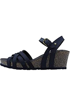 Panama Jack Damen Vera Basics Offene Sandalen mit Keilabsatz, (Navy)