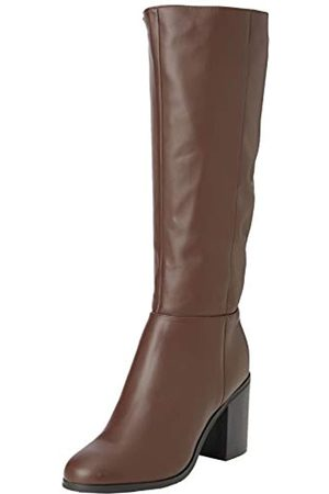 New Look Damen Wide Foot Dapper Hohe Stiefel, (Mid Brown 24)