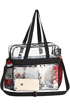 GreenPine Durchsichtige Tasche, durchsichtig, Stadion-geprüft, zwei Wasserflaschenhalter, Stadion-Sicherheit, Reisen & Fitnessstudio, durchsichtige Tasche für Arbeit, Sportspiele, Konzerte und Frauen, 12 x 12 x 6 cm