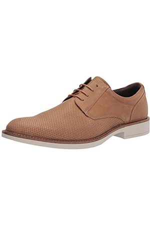 Ecco Mens Biarritz Perforated Tie Oxford, Camel/Lion