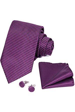 TIGER MAMA Herren Business Krawatte, Manschettenknöpfe