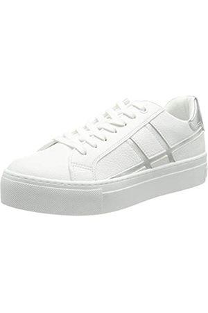 Marco Tozzi Damen 2-2-23745-26 Sneaker, White/Silver