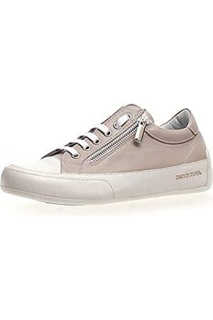 Candice Cooper Damen R.Deluxe Zip Oxford-Schuh, Bianco-Chat Grey