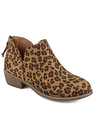 Journee Collection Damen-Stiefeletten mit Quasten, Braun (leopard)