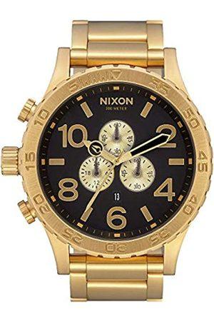 Nixon Herren Chronograph Quarz Uhr mit Edelstahl Armband A083-632-00