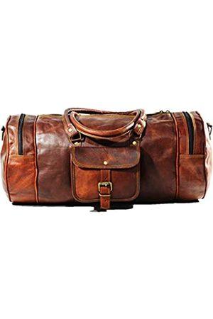 Jony Vintage Reisetasche aus echtem Ziegenleder für Übernachtungen, Wochenende, Leder, Sport, Fitnessstudio