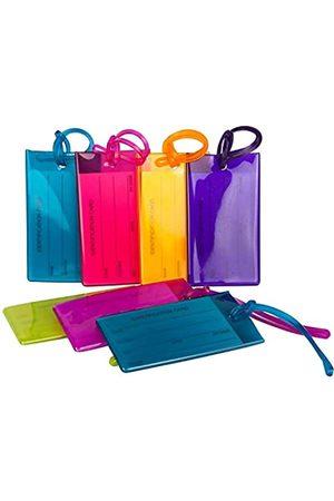 Travelmore 7er-Pack Gepäckanhänger Kofferanhänger mit Adressschild, Silikon-Kofferanhänger Luggage Tag zur Identifizierung von Tasche