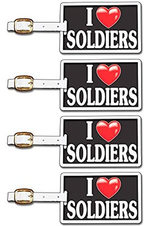 Tag Crazy I Heart Soldiers Four Pack