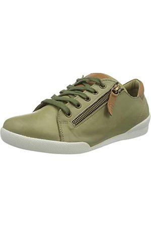 Andrea Conti Damen 0347839 Sneaker, Khaki/Brandy