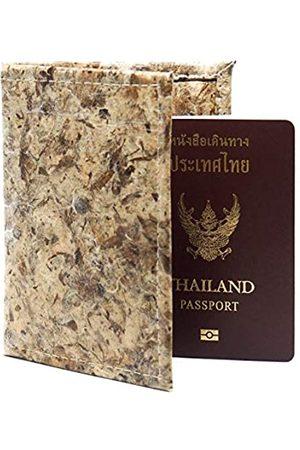 Homtiem Handgefertigter Reisepasshalter, schwarzes Knoblauchzehen-Leder, klappbar