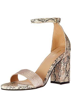 KAANAS Damen Glasgow Straw Open Tow Heeled Ankle Strap Shoe Sandalen mit Absatz