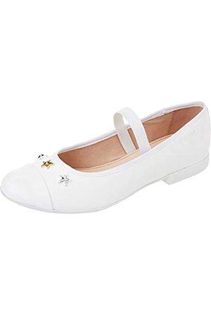 Geox JR PLIE' B Ballet Flat, White