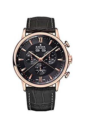 Edox Herren Chronograph Quarz Uhr mit Leder Armband 10501-37R-GIR