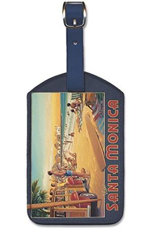 Pacifica Island Art Leatherette Luggage Baggage Tag - Santa Monica by Erickson