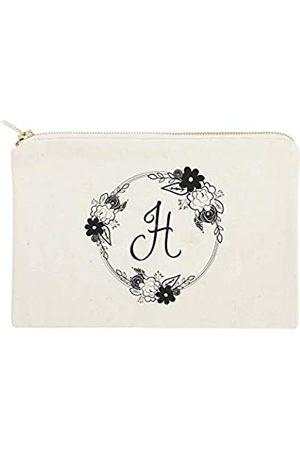 The Cotton & Canvas Co. Kosmetiktasche mit Monogramm-Blumenmuster