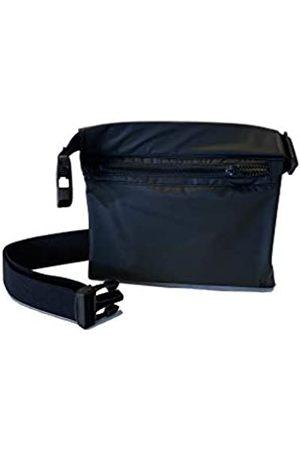 KIKS Design Co Zippy Gürteltasche mit Reißverschluss, zum Binden an der Taille, als Umhängetasche, Handyhalter, Gürteltasche, Reisen, Unisex, Schwarz (Sport)