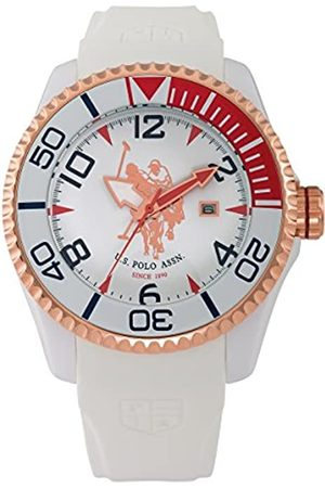 Ralph Lauren U.S. Polo Assn Herren Analog Miyota Uhr mit Silikon Armband USP4274RG_Rosegold