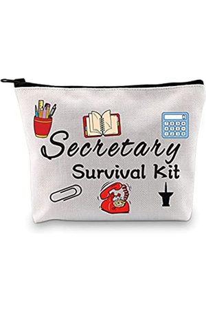 GJTIM Sekretärgeschenk Bürogeschenk Sekretärin Survival Kit Reißverschlusstasche Make-up-Tasche