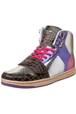 Creative Recreation Cesario Damen-Sneaker mit hohem Schaft, Silber (Mulit Snakeskin/Sepia/Croc)