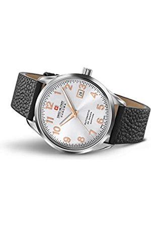 Swiss Military Hanowa Herren Uhren - SWISSMILITARY-HANOWAHerrenAnalogQuarzUhrmitLederArmband05-4287.04.001