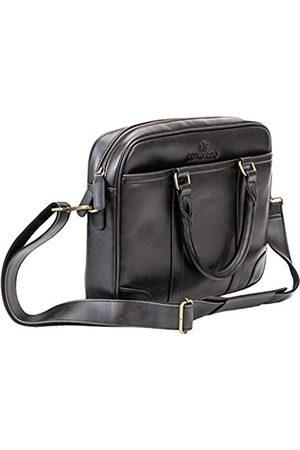 Luxorro Laptop-Tasche für Herren, weich, Kuriertasche für Herren, mit Handnähten, hält ein Leben lang, Computer-Taschen mit einzigartigem Draht-Hakensystem