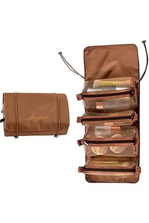 Brocarp Faltbare Kulturtasche, tragbare Reisetasche für Frauen, 4 Stück, abnehmbar, kleine Make-up-Tasche, Organizer, hängende Kosmetiktaschen für Geschäftsreisen, Urlaub, Haushalt, Reisebehälter für Toilettenartikel, Shampoo, persönliche Gegenstände, Acc