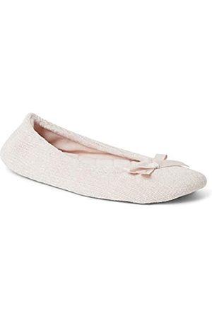 Dearfoams Damen Layla Ballerina with Suede Outsole Slipper, - dusty pink