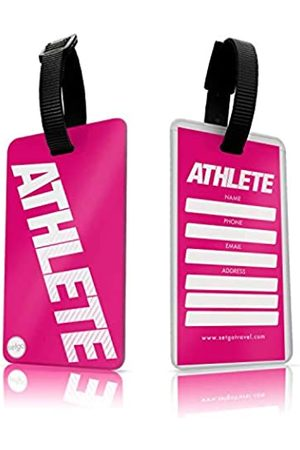 SetGo Athlete Gepäckanhänger (2er Set), Kunststoff Sportanhänger für Koffer