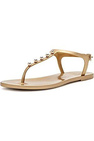 Katy perry Damen The Geli Novelty Studded T-Strap Flat Flache Sandale, Perlmutt/New