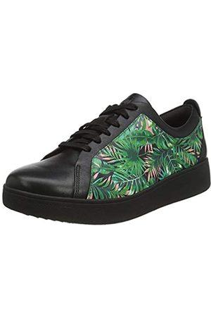 FitFlop Damen Rally Tennis Jungle Print Sneaker, (Black Mix)