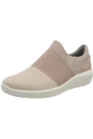 Clarks Damen Kayleigh Band Sneaker, Dusty Pink Combi Textile