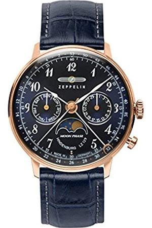 Zeppelin Unisex Chronograph Quarz Uhr mit Leder Armband 7039-3