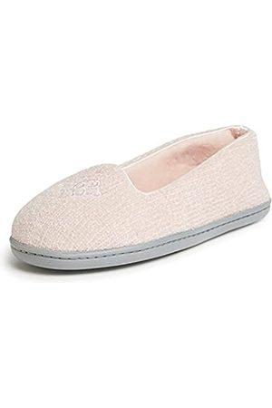 Dearfoams Damen Rebecca Chenille Closed Back Slipper, -Dusty pink