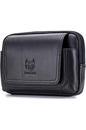 Hebetag Leder-Gürteltasche, horizontale Holster-Tasche für Herren, Mehrzweckschlaufe, Flip-Münzgeldbörse
