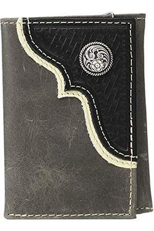 M&F Western Herren Nocona Eckauflage mit rundem Concho-Dreifachklappetui
