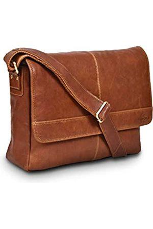 LEVOGUE Umhängetasche aus echtem Leder für Damen und Herren – 14 Zoll Laptoptasche für College, Arbeit