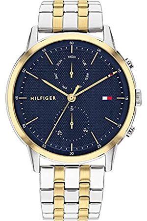 Tommy Hilfiger Herren Analog Quarz Uhr mit Edelstahl Armband 1710432