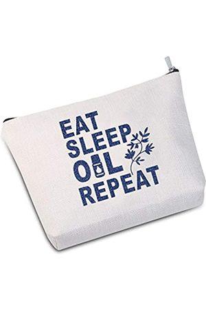 JXGZSO Ätherische Öle Tasche ätherische Öle Zubehör Eat Sleep Oil Repeat Make-up Tasche Muttertag Geschenk